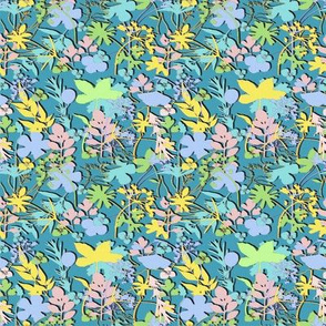 Ditsy Sunny Meadow Micro Modern Quilt