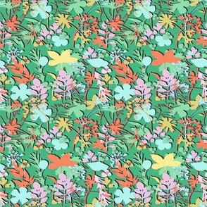 Ditsy Spring Garden Micro Modern Quilt
