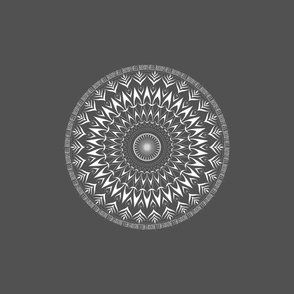 Bloody Hell - mandala - grey