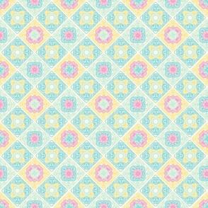 Colorful crosses stitches