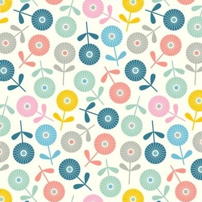 Spring Ditsy Floral in Pastel Colours from UnBlink Studio by Jackie Tahara-SMALL Scale