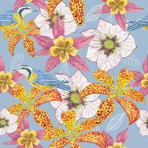 Woodland Flowers & Birds