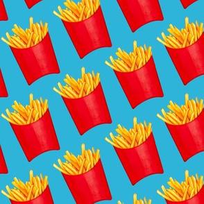 Fries Pattern 2 - Blue