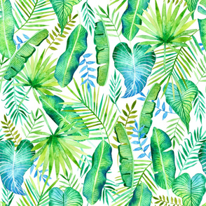 Tropical Leaves in Watercolor