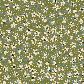 Ditsy Floral Olive