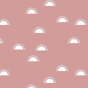 Little sunshine morning minimal trend abstract kids nursery design soft pink