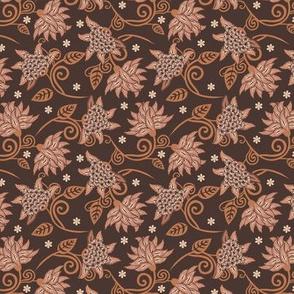 Art nouveau floral petite | brown