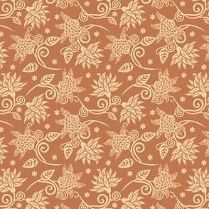 Art nouveau floral petite | ochre
