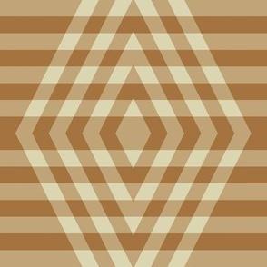 JP15 - Large - Buffalo Plaid Diamonds on Stripes in Two Tone Golden Tan