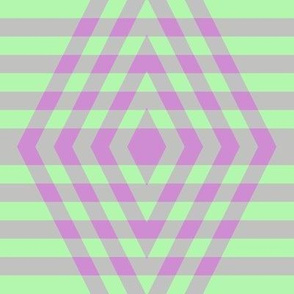 JP25 - Buffalo Plaid Diamonds on Stripes in  Lilac and Pastel Green