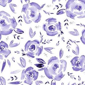 Amethyst roses - watercolor purple rose florals p259