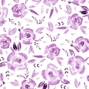Watercolor mauve roses p259