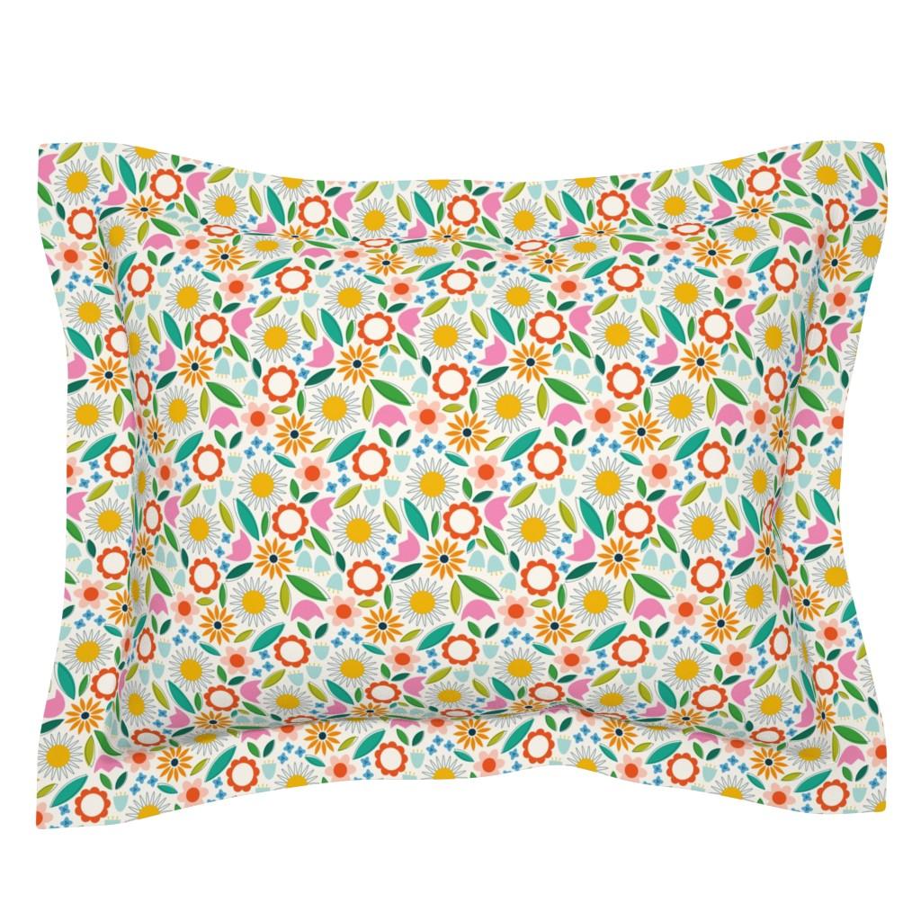 Sebright Pillow Sham featuring Petites Fleurs by katerhees
