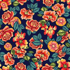 Roses on dark background