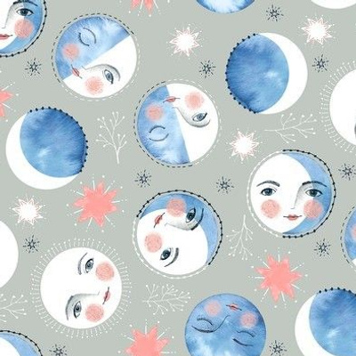 Moon Phases with Faces / Small Scale