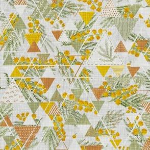 Golden Mimosa mini quilt