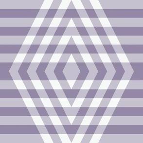 JP35 - XL - Buffalo Plaid Diamonds on Stripes in Neutralized Violet Monochrome