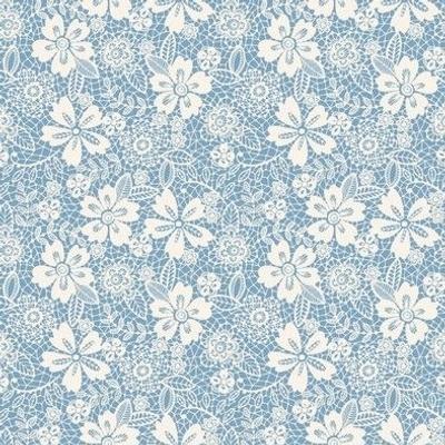 vintage lace blue