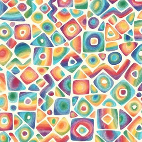 Soft geometric in rainbow colors