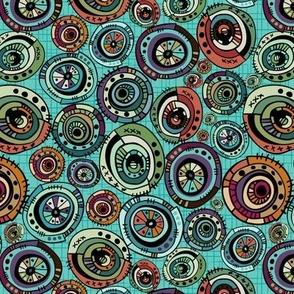 Geo Circles - Turquoise - Mini