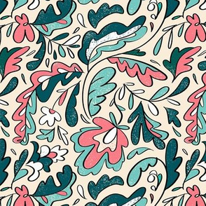 Abstract whimsical florals
