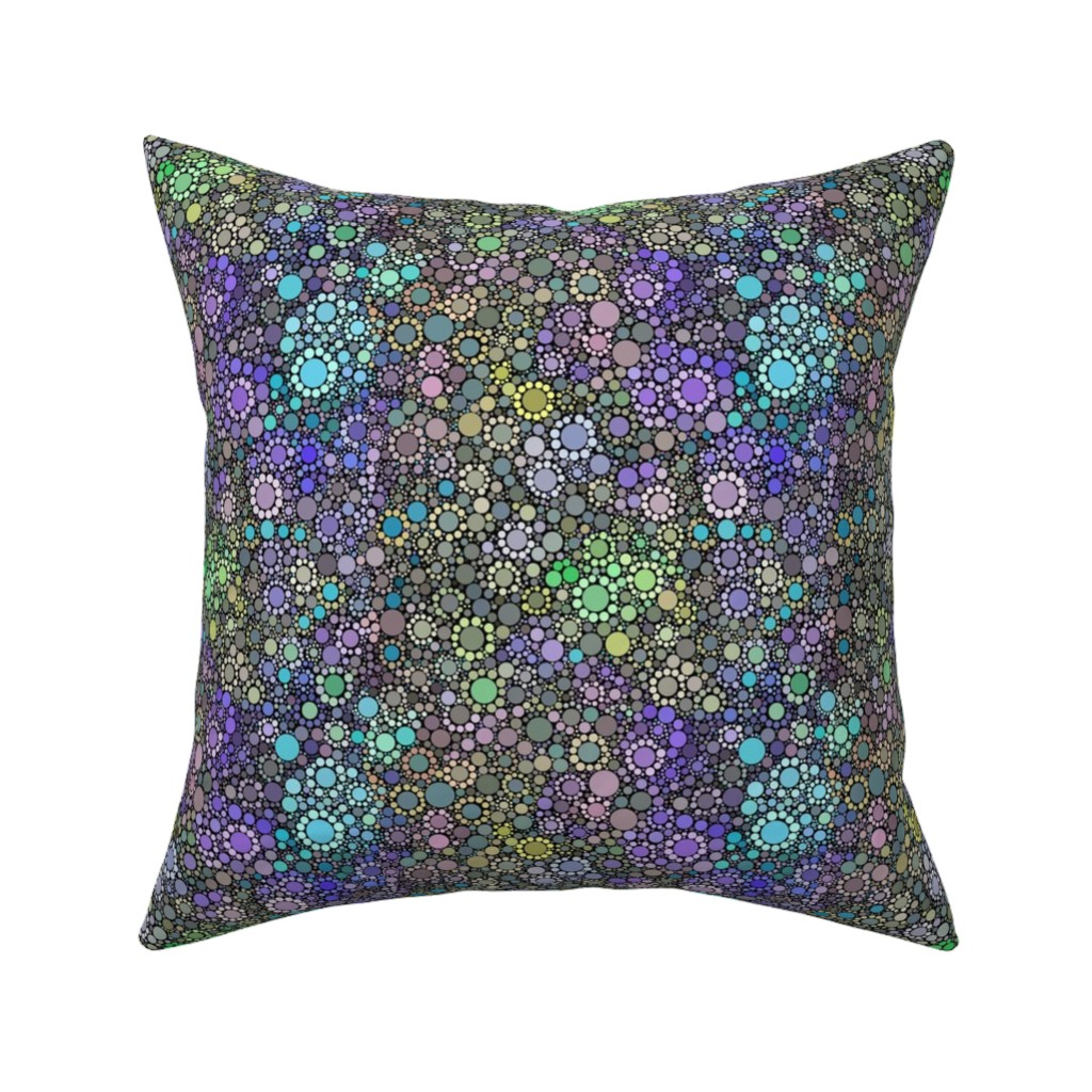 Catalan Throw Pillow featuring Dotty Desert Flowers by elramsay
