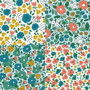 Vintage Floral Micro Quilt