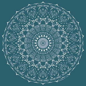 You Are Enough - mandala