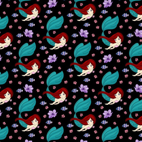 Floral Mermaid v1