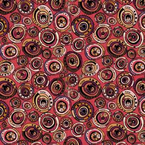 Geo Circles Tight - Mono Reds - Medium