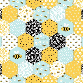 small Honeycomb Cheater Quilt