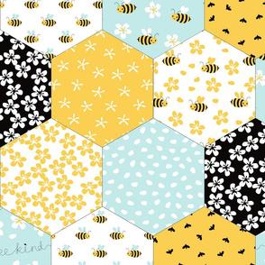 BIG Honeycomb Cheater Quilt