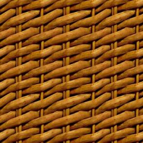 Woven Wicker Rattan Wallpaper - Large Scale