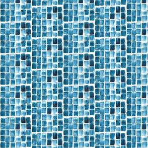 Watercolor Blue Tile