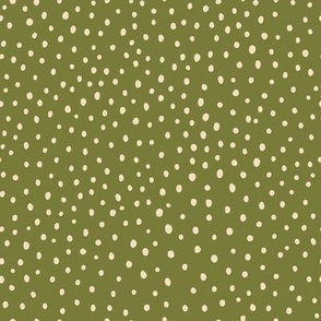 Ditsy Dots - Olive