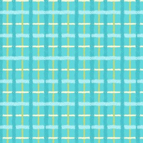 Blue and Yellow Spring plaid