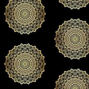 Golden Texture Mandala