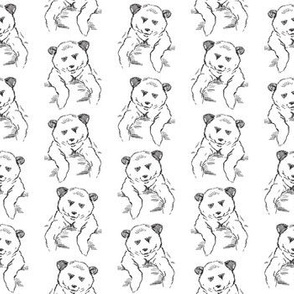 Cute Bears Print in Black and White (Small Size Print)