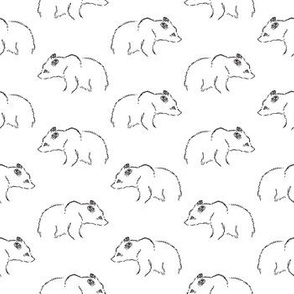 Illustrated Bear Print Pattern (Small Size Print)