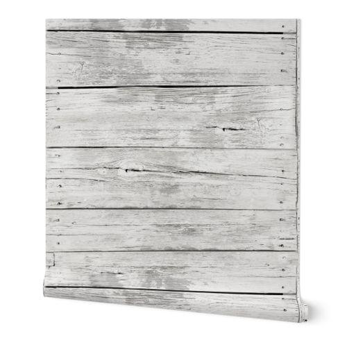 Large Weathered Wood-off white