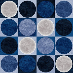 full moons blue texture
