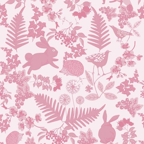 Pink hedgerow