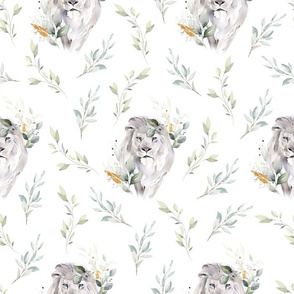Lion Jungle White