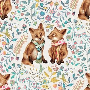 Fox Pup Pair in Spring - small