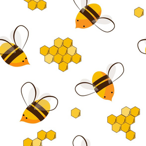 honey bees and honey combs