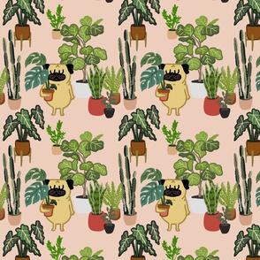 Pug and Plants_8x8