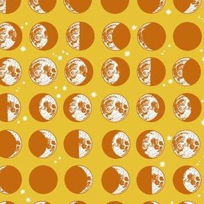 moon phases - mustard