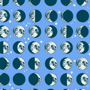 moon phases - periwinkle