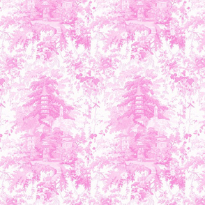 Chinoiserie Palace  ~ Pink and White ~ Small
