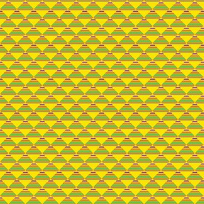 Cheerful Yellow Warm Spring Colorful Shapes